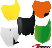 Rtech, Ventilerad nummerplåt, SVART, Suzuki 99-00 RM250, 99-00 RM125