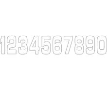 Holeshot, Siffror 10st, 11 X 5 cm, 7, VIT
