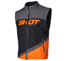 Shot, Jacka BODYWARMER LITE, VUXEN, XL, GRÅ NEON ORANGE