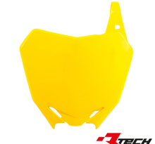Rtech, Nummerplåt, GUL, Suzuki 08-17 RM-Z450, 10-18 RM-Z250