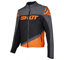 SHOT, JACKA SOFTSHELL LITE, VUXEN, L, GRÅ NEON ORANGE