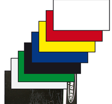 Tecno-X, Nummerplåtsplast Tjock 35*80 cm, SVART