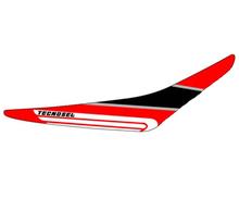 Tecno-X, Dekal Grip, CR 125/250, 00-01 Svart, Honda 00-01 CR250R, 00-01 CR125R