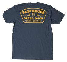 Fasthouse, T-Shirt GREASE MONKEY, VUXEN, XL, BLÅ