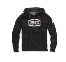 100%, SYNDICATE Zip Hooded Sweatshirt, VUXEN, S, SVART