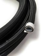 Stålomspunnen svart PTFE slang - AN4