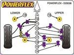 FRONT - ENGINE MOUNT-UPPER, LARGE BUSH  -  DIESEL D5 ONLY: Volvo S60, V70, S80    00-09  fwd