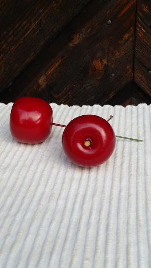 Äpple/tråd, mörkröd, 45mm