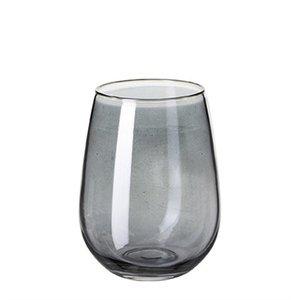 Hyde glas, 8xh12cm, rökblå