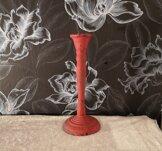 Nero, ljusstake, 8x20cm, gjutjärn, röd