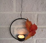 Smidesljuslykta, häng,  12x12cm