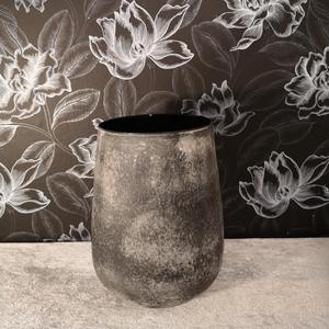 Iris glasvas, grå, 19x25cm