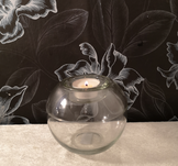 Glaslykta med ljushållare, 11xh10cm