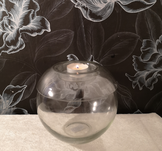 Glaslykta med ljushållare, 15xh13cm