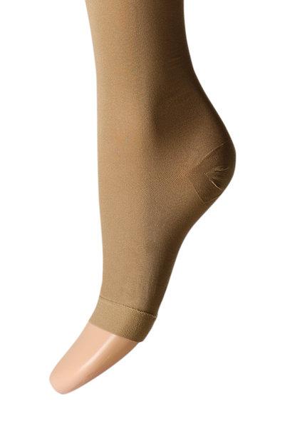 Knielange Stützstrümpfe mit offener Spitze, 22-27 mmHg