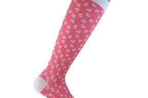 """Compression Socks """"Pink clover"""" - ccl1 & ccl2"""