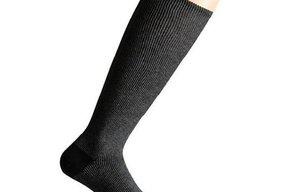Support socks twist grey and black