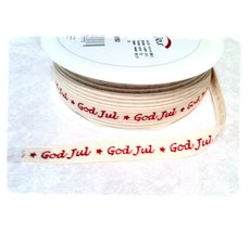 Dekorationsband - God Jul