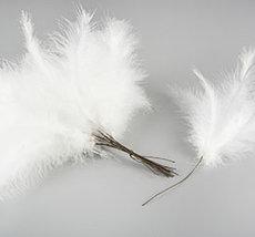 Fjäder/ Vippa Vit (12-pack)