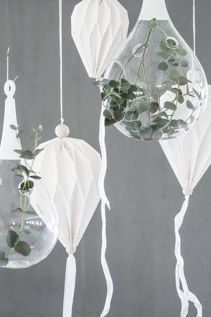 Pappballong - Vit