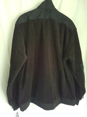 Fleecejacka, svart XL