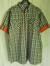 Skjorta, rutig grå/vit med orange detaljer 2XL
