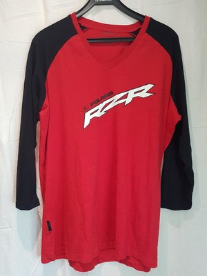 Long sleeve RZR, v-ringad röd/svart 2XL
