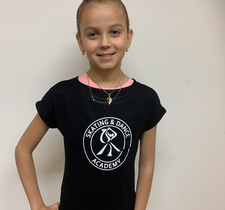 Svart T-shirt Skating & Dance Academy