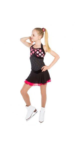 Svart/rosa halterneckklänning från elitexpression