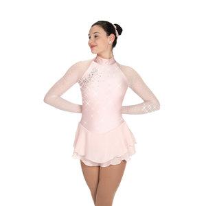 Ljusrosa klänning med kristaller