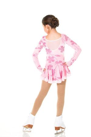 Sammetsklänning i rosa mönster i glitter
