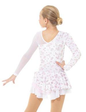 Ljusrosa klänning med asymetrisk skärning