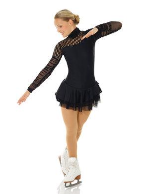 Långärmad klänning  med mesh