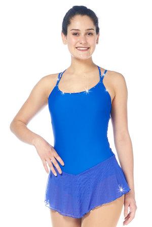 Kornblå ärmlös klänning med med swarovskidekorerade band