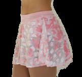 Rosa kjol med sammetsmönster