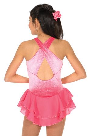 Rosa glittrande sammetsklänning