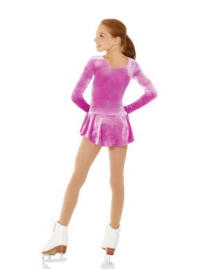 Lila sammets klänning med glitter