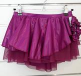 Lila-rosa rynkad kjol i metalictyg