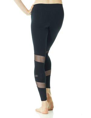 Svarta leggings med infällningar i mesh