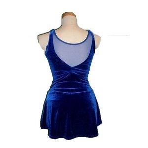 V-ringad sammetsklänning i flera färger