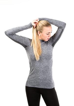 Melerad träningströja från Jiv i grått eller lila