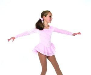 Ljusrosa sammetsklänning
