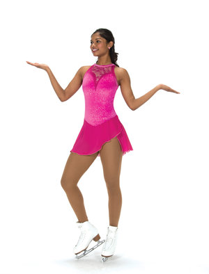 Starkt rosa ärmlös klänning