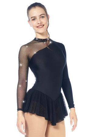 Svart klänning med meshdetaljer från Sagester