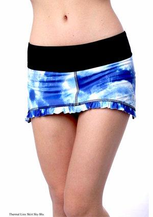 Tvåfärgad rak kjol från Thuono