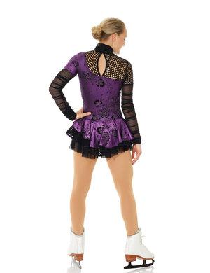 Lila långärmad klänning  med mesh
