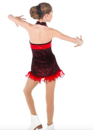 Svart/röd halterneckklänning från elitexpression