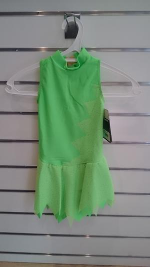 Ärmlös lycraklänning i grönt, turkos eller rött