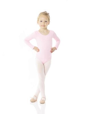 Långärmad barndräkt i svart eller rosa