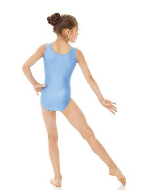 Ärmlös gymnastikdräkt i ljusblått